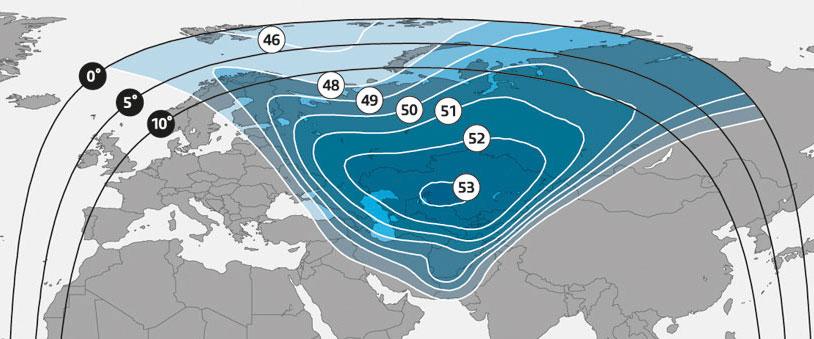 Central Asia Ku-band beam